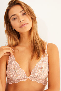 Womensecret Pink lace triangle bra pink