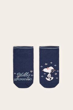 Womensecret Meias curtas Snoopy azul