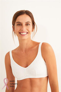 Womensecret Post-Surgery bra with zip beige