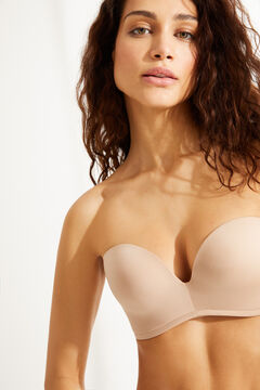 Womensecret Wireless strapless bra nude