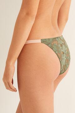 Womensecret Strappy Brazilian lace panty green