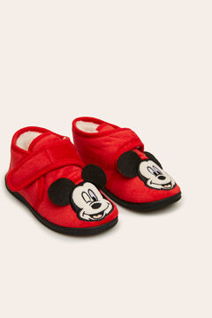 Womensecret Zapatilla kids bota con patch de Mickey rojo
