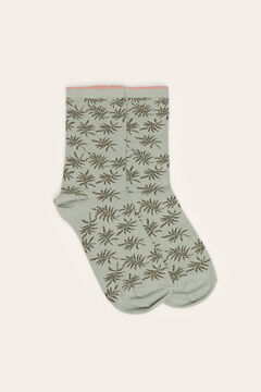 Womensecret Printed ankle socks green