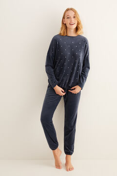 Womensecret Long blue moon pyjamas grey