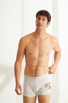 Womensecret 2-pack coyote print cotton boxers grey