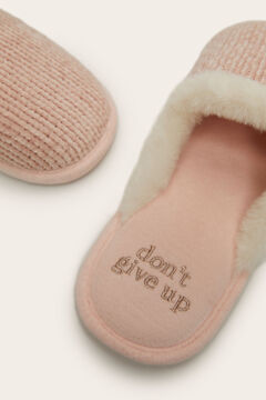 Womensecret Pink slingback slippers  pink