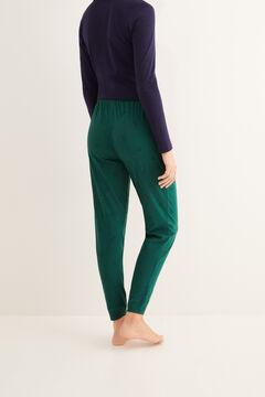 Womensecret Pantalon long de pyjama imprimé noël vert vert
