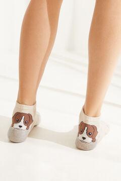 Womensecret Dog cotton ankle socks  printed