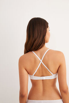 Womensecret Padded triangular bra white