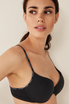 Womensecret Organic cotton push-up bra black