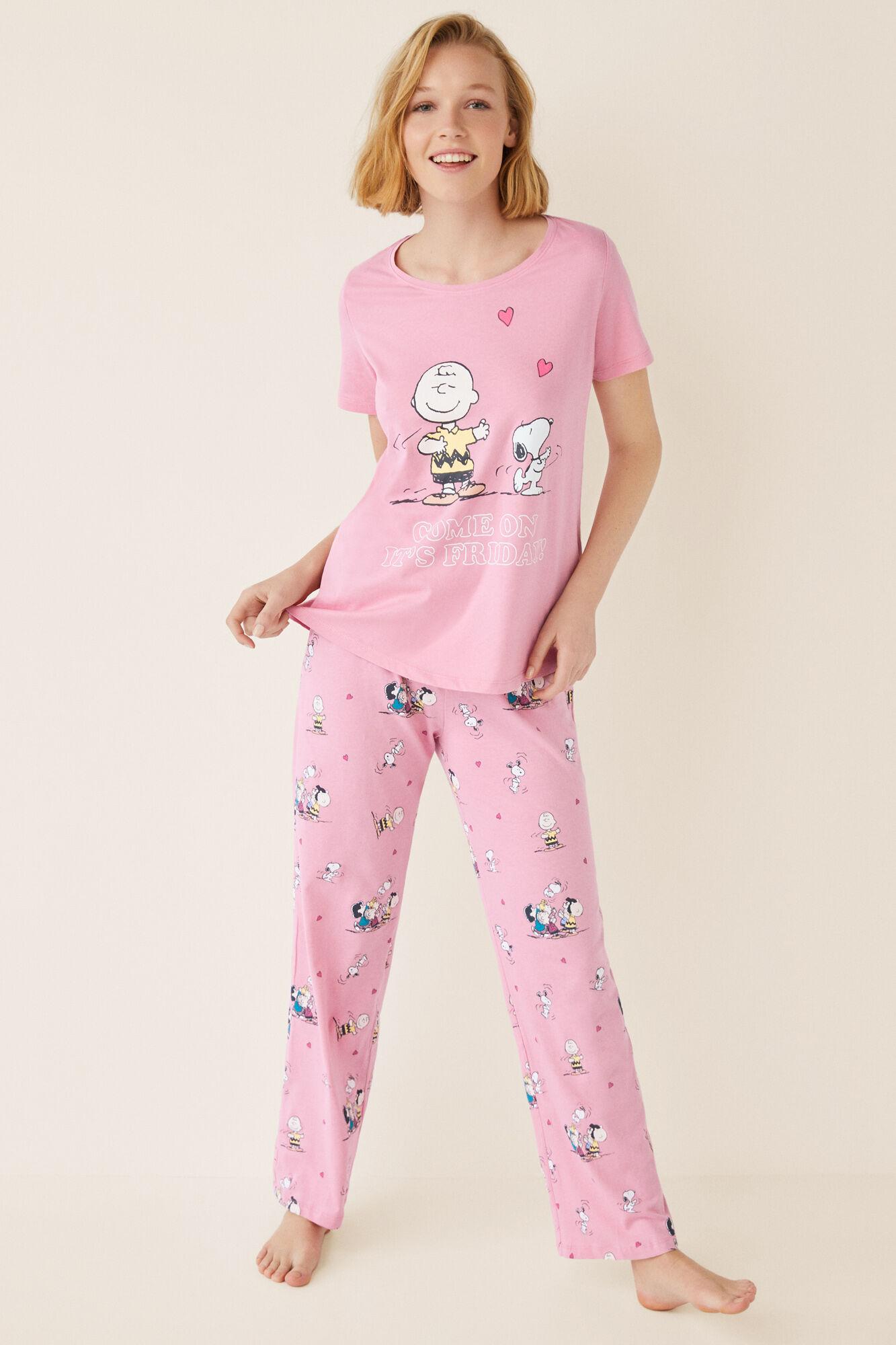 Friday Pijama Corta Corta Snoopy Pijama Manga Manga Snoopy UzVpLqSMG