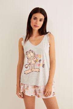 Womensecret Pijama corto Garfield gris