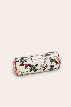 Womensecret Cojín gris estampado Snoopy gris