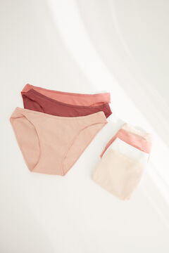 Womensecret 7-pack classic pastel cotton panties white