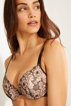 Womensecret GORGEOUS Embroidered lace push-up bra black