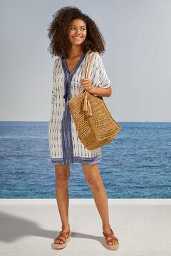 Womensecret Camisola manga amplias tie-dye azul blanco