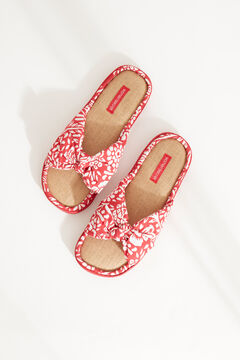 Womensecret Red printed slippers brown