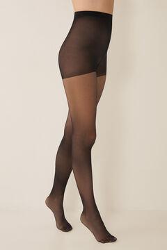 Womensecret Black semi-sheer stockings black
