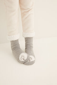 Womensecret Fluffy Snoopy non-slip ankle socks grey