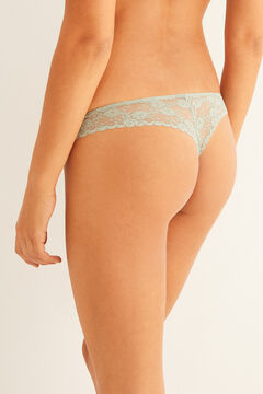 Womensecret Mint lace tanga green