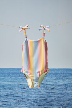 Womensecret Badeanzug mit Streifen-Print Mädchen mit Print