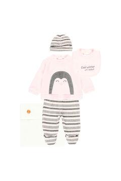 Womensecret Pack 4 piezas de punto con bolsa de bebé rosa
