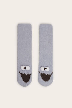 Womensecret Long Cookie Monster socks blue