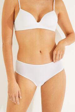 Womensecret Pack 3 cuecas microfibra branco