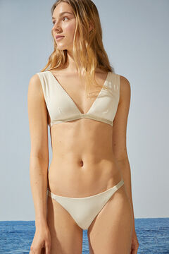 Womensecret Beige sparkly classic bikini bottoms beige