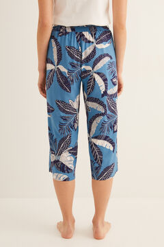 Womensecret Long printed pyjama bottoms blue