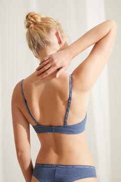 Womensecret FANTASTIC Sujetador escote halter encaje azul