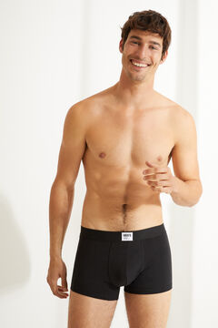 Womensecret 3-pack black organic cotton boxers black