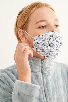 Womensecret Mascarilla higiénica homologada reutilizable flores azules azul