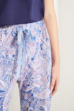 Womensecret Long cotton paisley bottoms blue