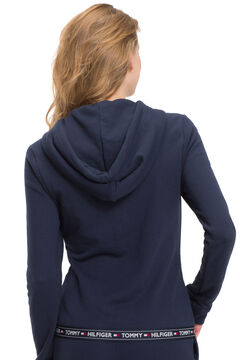 Womensecret Sudadera de algodón con capucha azul