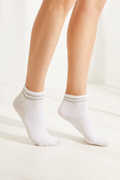 Womensecret 3-pack striped cotton socks  white