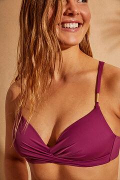 Womensecret Fuchsia pink extra soft cup bead detail bikini top brown