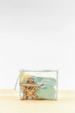 Womensecret Garfield green vanity case and flip-flops pack white