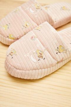 Womensecret Zapatillas destalonadas rosa Bob Esponja rosa