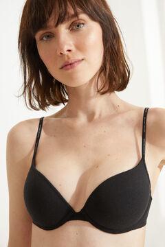 Womensecret Organic cotton push-up bra black