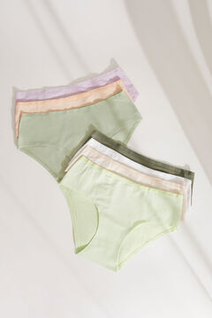 Womensecret 7-pack striped print cotton classic panties printed