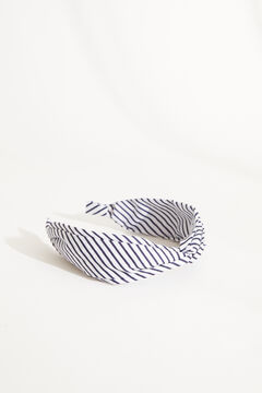 Womensecret Striped knot headband blue