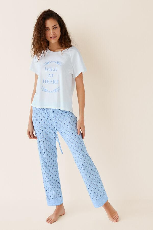 9a8f557f9 Womensecret Pijama largo algodón azul