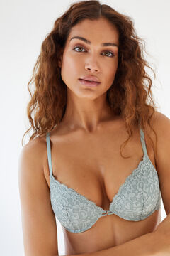 Womensecret GORGEOUS Turquoise lace push-up bra blue