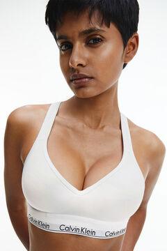 Womensecret Calvin Klein shaped cotton top with waistband white