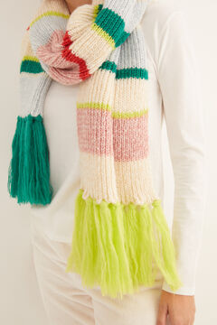 Womensecret Multistripe scarf white