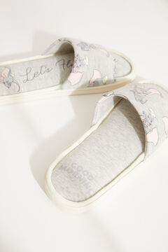 Womensecret Grey Dumbo mule slippers printed