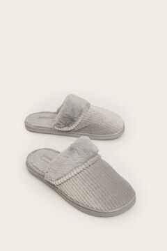 Womensecret Grey slingback slippers grey