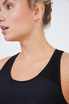 Womensecret T-shirt alças treino preto