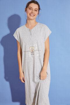 Womensecret Nuisette mi-longue coton gris marengo gris